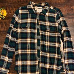American Eagle Green/Cream Plain Flannel